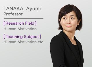 TANAKA, Ayumi Professor